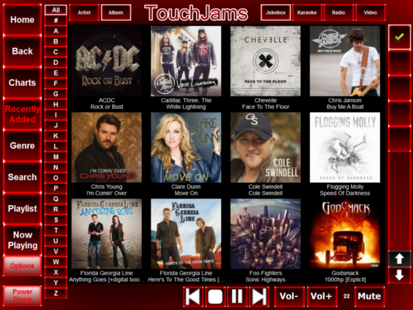 TouchJams Skin - Mareks Red 1024 x 768